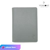 VERMONT E002 Dompet Unisex Kulit Asli Original - Classic Gray