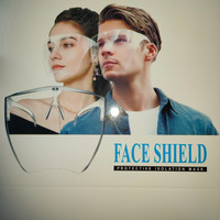 face shield acrylic muka ready bening thumbnail