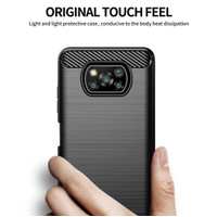 POCO X3 NFC SOFT CASE CARBON FIBER BRUSH 02