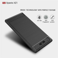 SONY XZ1 AOMYTO SOFT CASE CARBON FIBER BRUSH