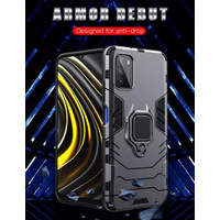 POCO M3 HARD CASE BLACK PANTHER ARMOR RING COVER