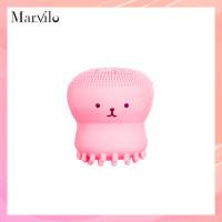Marvilo Alat Pembersih Muka Bentuk Gurita Bahan Silikon - Merah Muda thumbnail