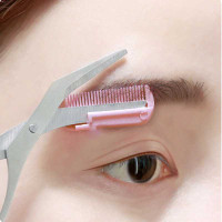 Gunting Cukur Alis Mata Eyebrow Trimmer Scissor Comb thumbnail