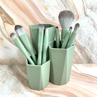 Make Up Brush with Holder (8 brushes) - green thumbnail