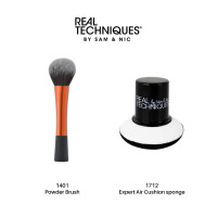 Real Techniques Combo Sale Powder Brush + Expert air cushion sponge thumbnail