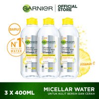 Garnier Micellar Cleansing Water Vitamin C 400 ml Pack Of 3 thumbnail