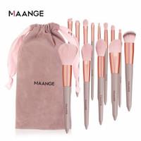 maange original 13pcs set brush makeup kuas lembut with bag thumbnail
