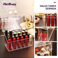 Kotak Penyimpanan Lipstik Make Up Acrylic Organizer Transparan thumbnail