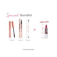 Iomi Special Bundle Mascara + Eyeliner + Eyebrow FREE Lipstick Jewel - Light Brown thumbnail