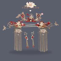 Set Aksesoris Rambut Sangjit China Hairpiece Tusuk Konde Premium Pesta thumbnail