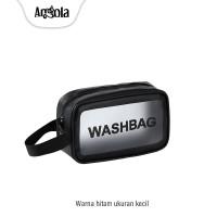 Tas Kosmetik Portable C59 Tas Makeup Pouch Organizer Tas Travel - Kecil, Hitam thumbnail