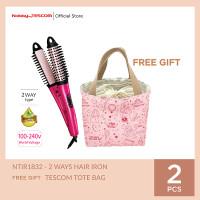 TESCOM NTIR1832 NEGATIVE IONS 2 WAYS HAIR Catokan Pengeriting Rambut - Gratis Tas thumbnail