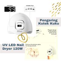 Alat Pengering Kutek Kuku UV Portable LED Nail Dryer 120W - Putih thumbnail