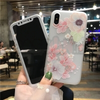 Iphone case / casing iphone soft case relief flower #1