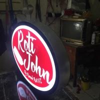 Neon box oval 75x50cm