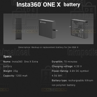Insta360 ONE X Backup Replacement Battery Pack Authentic Original