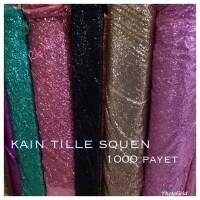 kain-bahan Tille SEQUIN / kain Tulle sequin / seribu payet ,bahan dres