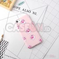 Jual premium soft & hard case iphone pinky cat paw