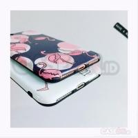 Iphone case / casing iphone soft case hard case pink flamingo
