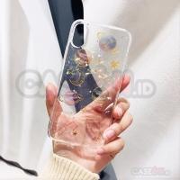 Iphone case / casing iphone soft case hard case space planet glitter