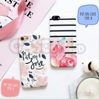 Iphone case / casing iphone soft case hard case put on love