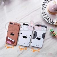 Iphone case / casing iphone soft case hard case cute closeup bear