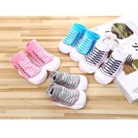 kaos kaki bayi anti slip bentuk sepatu lucu keren