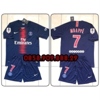 39a18a11c7fee9 Jersey + Shorts PSG Home 2018 2019 name player Neymar Jr