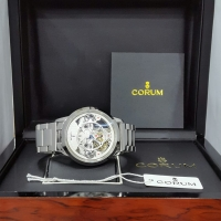 JAM TANGAN CORUM AUTOMATIC SILVER FREE BOX ORIGINAL