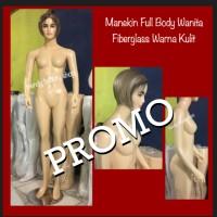Patung Manekin Wanita Full Body Fiberglass Warna Kulit