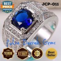Cincin Pria Blue Sapphire Zircon Gold JCP-011