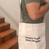 HAPPY PEOPLE SHINE BRIGHTER boys tote