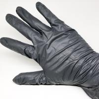 Nitrile Glove Disposable Sarung Tangan Nitrile Hitam L size