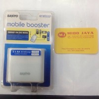 Charger Sanyo Eneloop Mobile Booster isi 2 Baterai AA