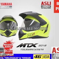 Harga helm mtx kuning fluo no double visor asli original | antitipu.com