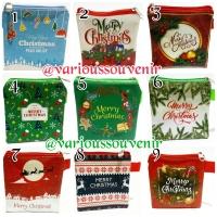Dompet Souvenir Natal Christmas Pouch 25 Motif Yesus Maria Santa Murah