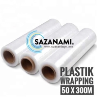 PUTIH STRETCH FILM 50CM X 300M PUTIH PLASTIK WRAPPING PLASTIC WRAP