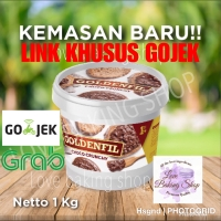 KHUSUS GOJEK! HOT SALE PROMO GOLDENFIL CRUNCHY 1 KG SELAI COKELAT