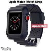 Apple Watch iWatch Rugged Silicone Strap 38mm 42mm