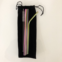 REUSABLE STRAW ECOFRIENDLY SEDOTAN STAINLESS PAKET MULTICOLOR