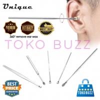 BT-015 5 Pcs Korek Kuping Ear Pick Cleaner Stainless HQ