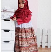 Gamis anak batik/ baju muslim chibby batik cutetrik