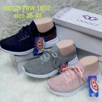 Sepatu OGGO sneakers TRW 1802 - Merah Muda, 36
