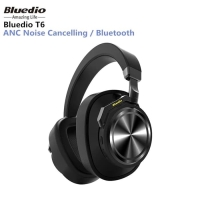 BLUEDIO T6 Active Noise Canceling Headphones Wireless Bluetooth