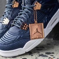 Pre Order Sepatu Sneakers Nike Air Jordan 4 Premium Obsidian