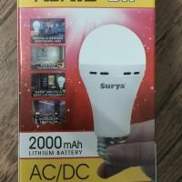 Lampu AC/DC LED Surya Ajaib 8 Watt (Lithium 2000mAh)