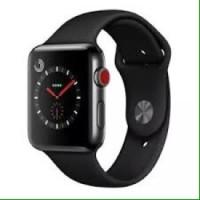 Iwo 5 smartwatch 42MM apple copy 1:1 -- Silver case black strap