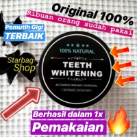 Charcoal Powder Activated Teeth Whitening Pot