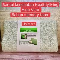 Bantal kesehatan bantal memory foam Healthyliving Aloe Vera