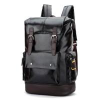 TAS kulit PU tas sekolah tas ransel kulit backpack import selempang